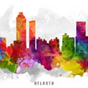 Atlanta Georgia Cityscape 13 Poster