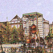 Atlanta Georgia Usa - Color Pencil Poster