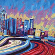 Atlanta Georgia Skyline 17 Poster