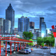 Atlanta Landmark The Varsity Art Poster