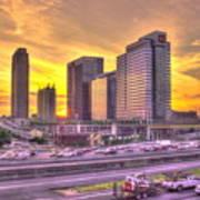 Atlanta Midtown Atlantic Station Sunset Poster