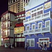 Atlantic City Boardwalk At Night Poster