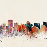Atlantic City New Jersey Skyline Poster
