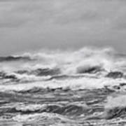Atlantic Storm In Black And White Poster