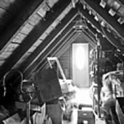 Attic Space Bw Poster