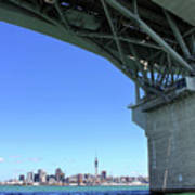 Auckland Harbour And Bridge Poster