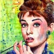 Audrey Hepburn Watercolor Poster