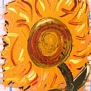 August 7 Late Day Sunflower Poster