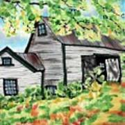 August Barn Poster by Linda Marcille