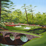 Augusta Golf Course Poster by Kimber  Butler