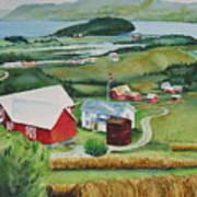 Aune Farm In Selbu Norway Poster