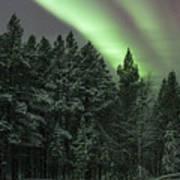 Aurora Borealis Over Finland Poster