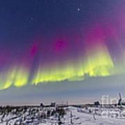 Aurora Borealis Seen From Churchill Poster