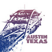 Austin 360 Bridge, Texas Poster