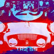Austin Healey Bugeye Poster by Naxart Studio