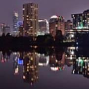 Austin Lights Up Lady Bird Lake Poster