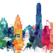 Austin Skyline Poster