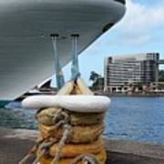 Australia - Cruise Ship Tied Up Poster