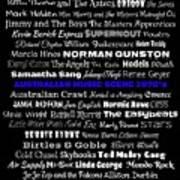 Australian Music Scene 1970's No 7 Poster