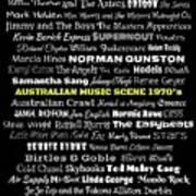 Australian Music Scene 1970's No 8 Poster