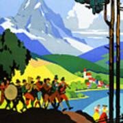 Austria Vintage Travel Poster Poster