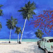 Auto Sulla Spiaggia Poster