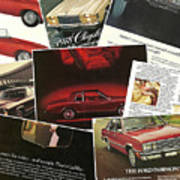 Automotive Ad's Collage 2 Poster