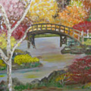 Autum Bridge Poster