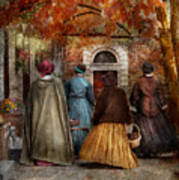Autumn - People - A Walk Downtown  Poster