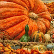 Autumn - Pumpkin - Great Gourds Poster by Mike Savad
