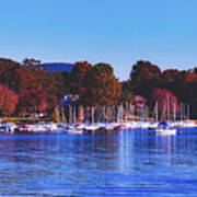 Autumn Along Lake Candlewood - Connecticut Poster