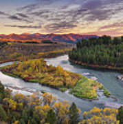 Autumn Along The Snake River Poster