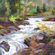 Autumn Along The Vermillion River Poster