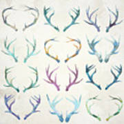 Autumn Antlers Poster