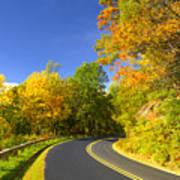 Autumn Appalachian Drive Poster