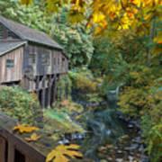 Autumn At Cedar Creek Grist Mill Poster