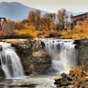 Autumn At Lundbreck Falls Provincial Park Poster