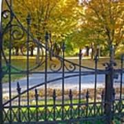 Autumn At The Gates Of Lafayette Park Portrait Poster