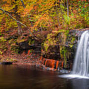 Autumn At Wolf Creek Falls Poster