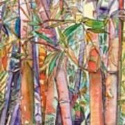 Autumn Bamboo Poster