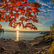 Autumn Bay Near Shovel Point Poster