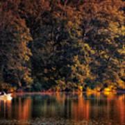 Autumn Boating At Argyle Lake Poster