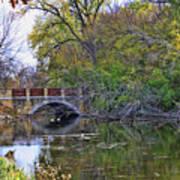 Autumn Bridge Poster