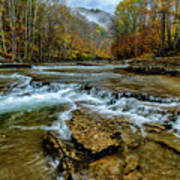 Autumn Cherry Falls Elk River Poster