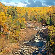 Autumn Color Along Beaver River Poster