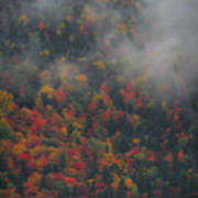 Autumn Colors In The Clouds Poster