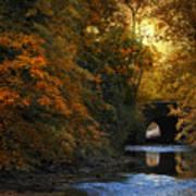 Autumn Country Bridge Poster