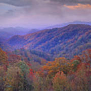 Autumn Deciduous Forest Great Smoky Poster