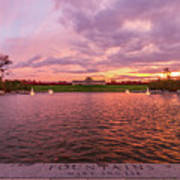 Autumn Evening At Forest Parks Grand Basin Poster