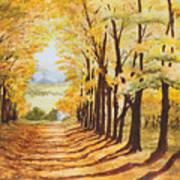 Autumn Evening Poster